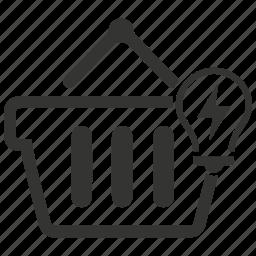commerce, e commerce, market, shopping, shopping cart, solution icon