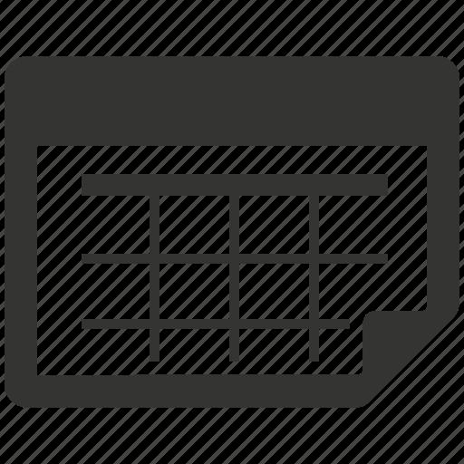 agenda, calendar, schedule icon