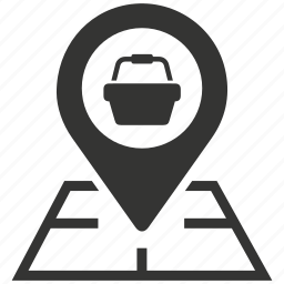 buy, location, map, map marker, place, shop, shopping, store, store locator icon