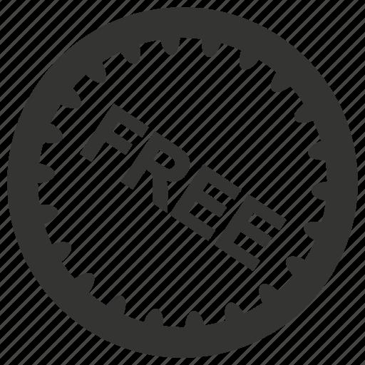 badge, free, label, sticker icon