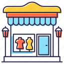 boutique, market, marketplace, shop, store icon