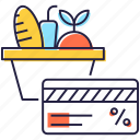 card payment, digital payment, discount card, shopping, shopping card icon