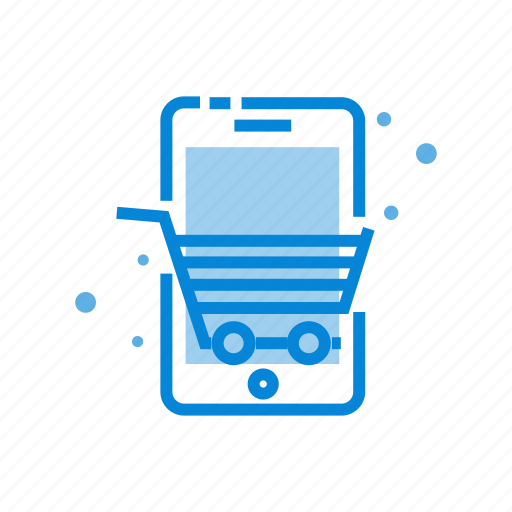 cart, commerce, m, phone, shopping icon