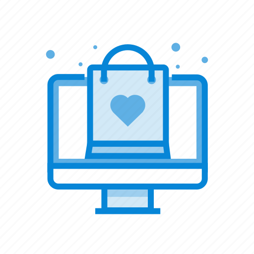 bag, computer, online, shopping icon