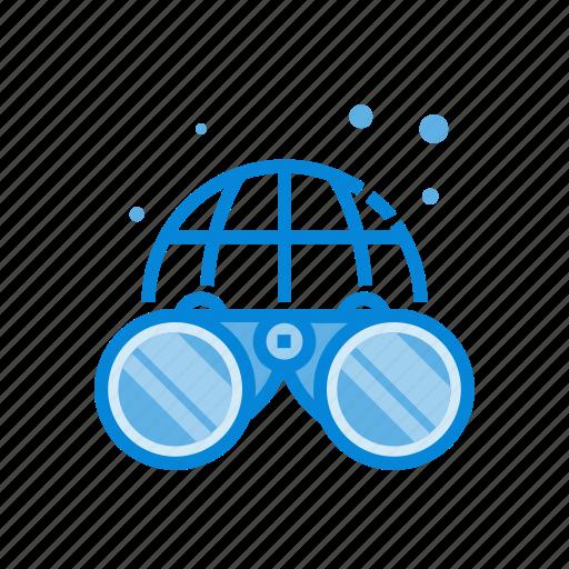 binacular, internet, search, world icon