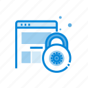 padlock, page, secure, website icon