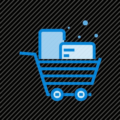 box, cart, shop, shopping icon