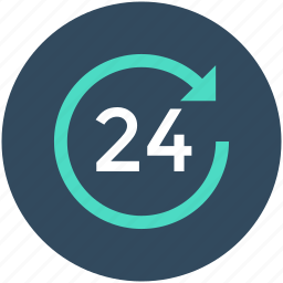 customer service, customer support, full service, helpline, twenty four hours icon
