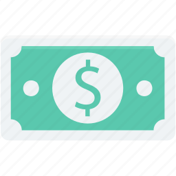 banknote, currency, currency note, dollar, paper money icon
