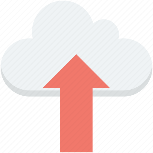 cloud computing, cloud data, cloud transfer, cloud upload, uploading icon