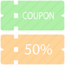 action, coupon, discount, label, sale, shopping icon