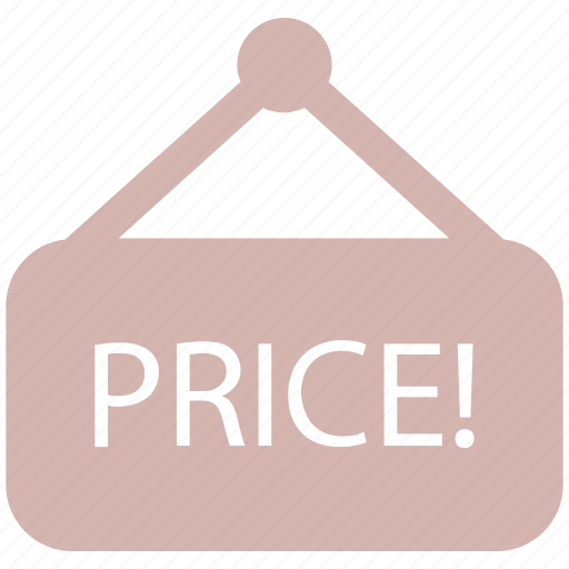 price banner, price board, price info banner, sale signboard, shop board icon