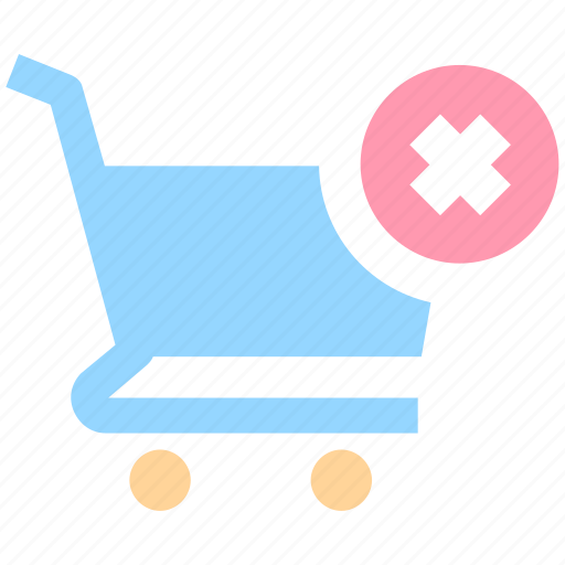 cart, delete, ecommerce, reject, shopping, shopping cart icon