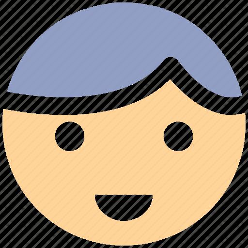 baby, boy, child, face, smile icon