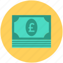 banknote, currency note, paper money, paper note, pound note icon