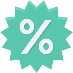 discount offer, discount ratio, percentage, percentage ratio, shopping discount icon