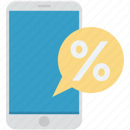 cell phone, mobile discount, mobile promotion, mobile sale, percentage icon