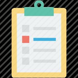 checklist, clipboard, list, memo, shopping list icon