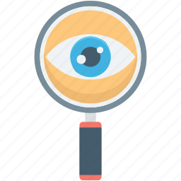magnifier, magnifying glass, search, searching glass, view icon