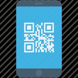 matrix code, mobile, qr code, qr scanner, shopping code icon