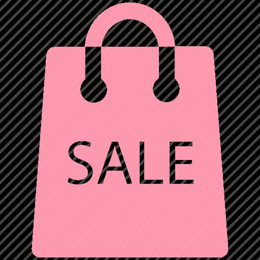 bag, carryall bag, ecommerce, sale sign, shopping bag icon
