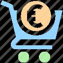basket, cart, dollar sign, ecommerce, money, shopping, shopping cart icon