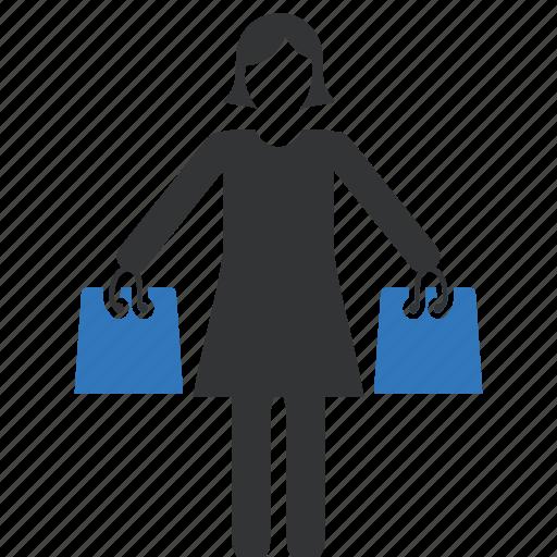 bag, shop, shopping, women icon