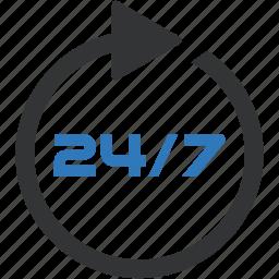 24h, nonstop icon
