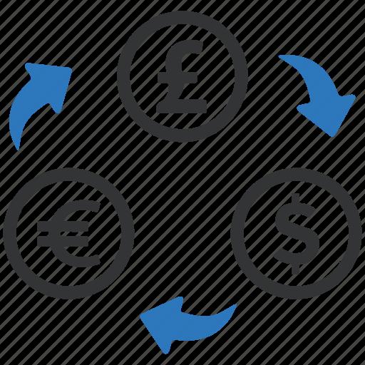 conversion, converter, currency exchange, dollar, euro, trade, trnsformation icon