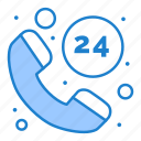 call, hours, service icon