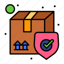 box, delivery, secure, shipping icon