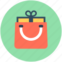 bag, gift, shopper bag, shopping, shopping bag icon