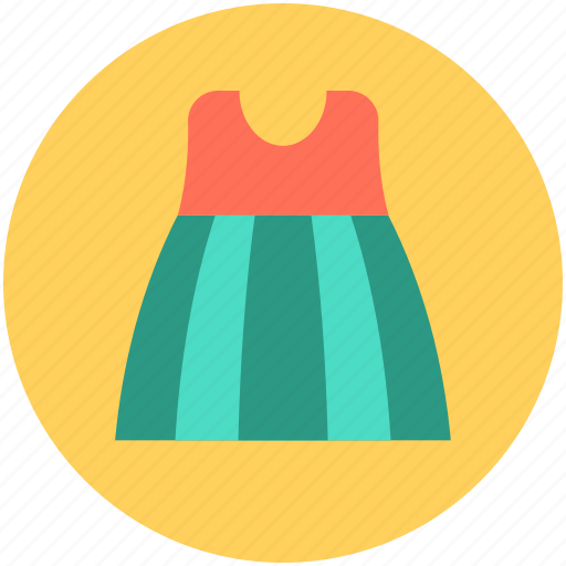flare dress, frock, skater dress, sundress, woman dress icon