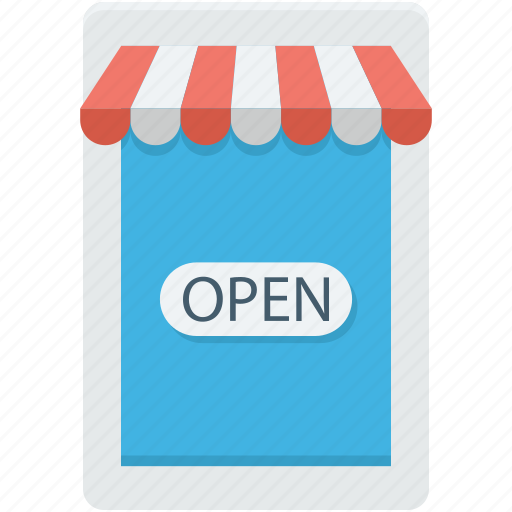commercial sign, open shop, shop, store, store sign icon