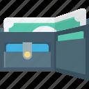 billfold wallet, card holder, purse, saving, wallet