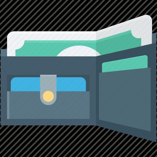 billfold wallet, card holder, purse, saving, wallet icon