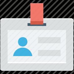 employee card, id badge, id card, identity card, volunteer card icon