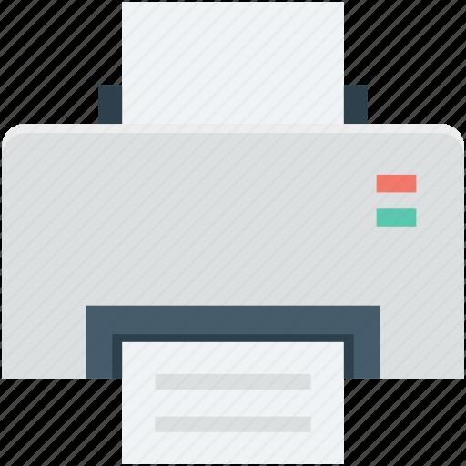 fax, inkjet printer, laser printer, printer, printing machine icon