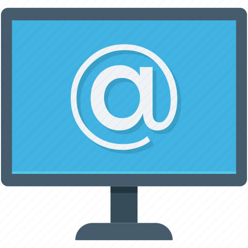 arroba, email, internet, internet connection, monitor icon