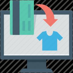 e commerce, e store, monitor, online shopping icon
