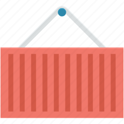 cargo container, freight container, logistics delivery, shipment, shipping container icon