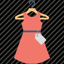 flare dress, frock, shopping, sundress, woman dress icon