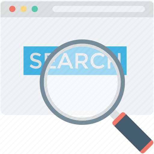 browsing, magnifier, web browser, web search, website icon