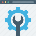 spanner, web options, web preferences, web setting, webpage icon