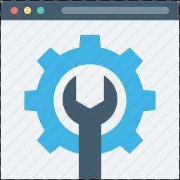 spanner, web options, web preferences, web setting, webpage icon