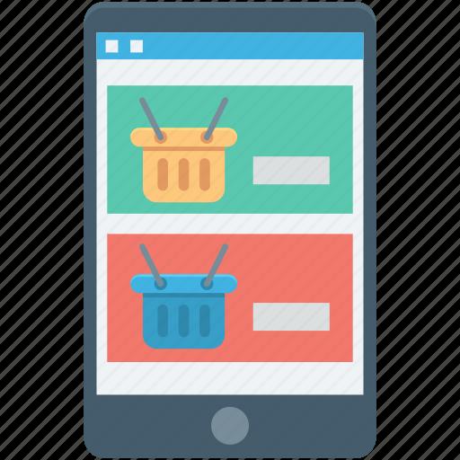basket, m commerce, online shopping, shopping app, shopping basket icon