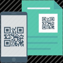 matrix code, mobile, qr code, qr file, qr scanner icon