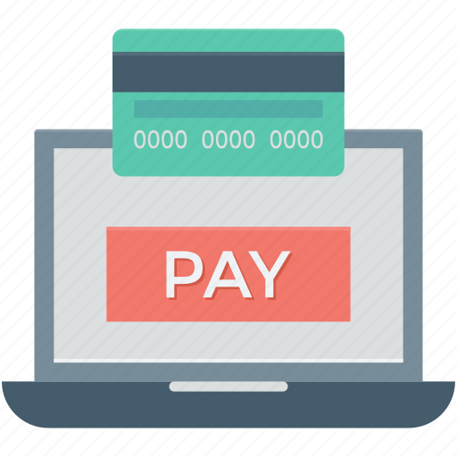 credit card, laptop, online payment, pay, transaction icon