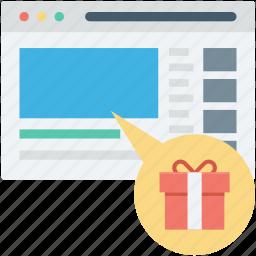 buy online, e commerce, gift, online shopping, shopping website icon