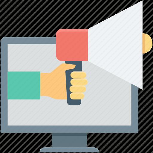 advert, advertisement, announcement, marketing, megaphone icon